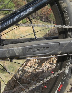 Like the standard Enduro, the EVO gets an integrated chainstay protector