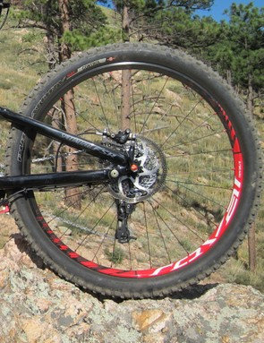 While the Specialized wheelset may reduce weight, it seems a bit too light for the EVO's target trail use
