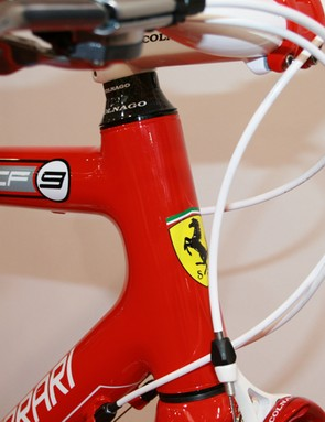 Colnago are proud of their association with Ferrari and there's no mistaking the head badge on this CF9