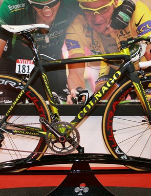 Thomas Voeckler's CS9 took pride of place on the Colnago stand