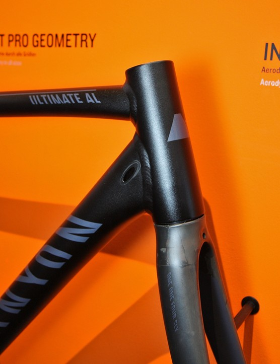Cables are internally routed on Canyon's revised Ultimate AL frame