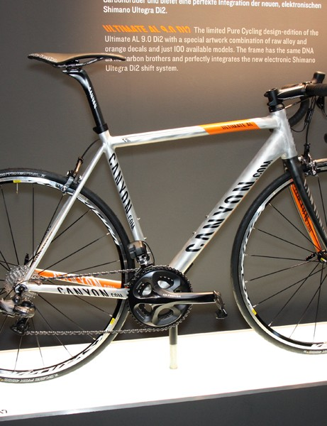 The 'Pure Cycling' edition of Canyon's revamped Ultimate AL 9.0 features a raw frame finish and Shimano's new Ultegra Di2 electronic group