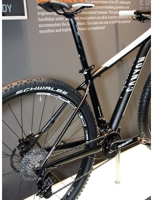 Big chain stays and slim seat stays are common on carbon frames but Canyon also uses the concept on its new alloy 29er hardtail, too