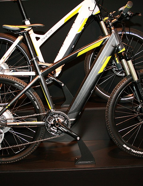 New for 2012 is the E-Hybride 'trail e-bike', designed for off-road riding when you need that little bit of an extra push. The mid-range Trail 4000 shown here will cost €2,599 euros; UK and US pricing has yet to be confirmed