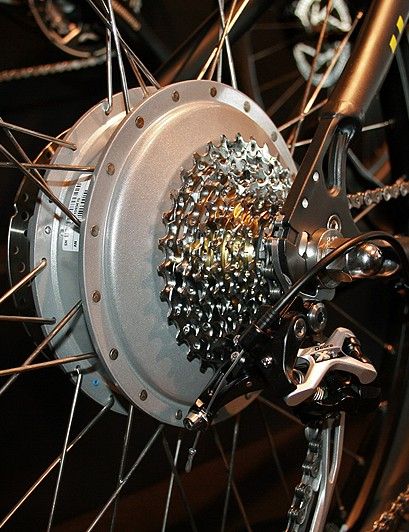 All of Ghost's E-Hybride e-bikes feature a 40Nm silent rear wheel hub motor capable of putting out 250 watts