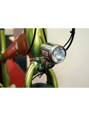 The dynamo front hub on Silverback's Starke 1 and 2 is used primarily to power the Supernova lighting system