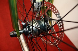 The Supernova hub in the front wheel of Silverback's Starke 1 and 2 generates power whenever the wheel rolls
