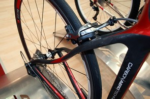 The seatstays on Silverback's Space road bikes are designed with comfort in mind