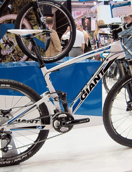 Giant have added the Anthem X Advanced 2 model for 2012, giving buyers the extra performance of a carbon fiber front end but the economy of an alloy rear triangle