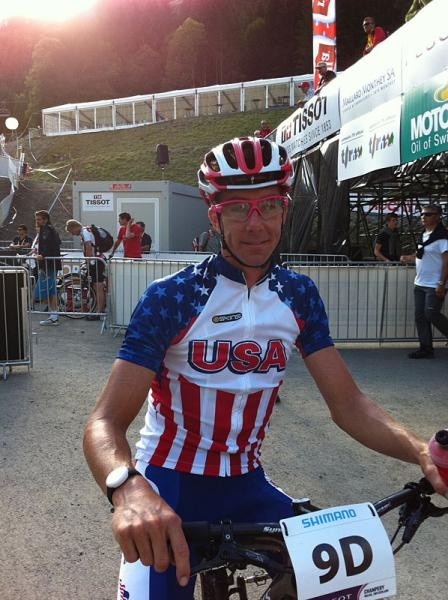 Todd Wells (United States) after finishing off the team relay.