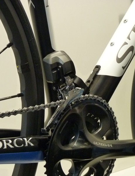 Shimano's Ultegra Di2 electronic drivetrain is a popular choice for 2012 road bikes,including this model from Storck