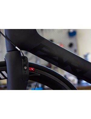 As well as the high-tech shifting, Parlee wanted the bike to have a unique look and good aerodynamics