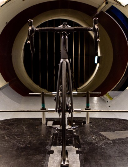 Bob Parlee was insistent that, as the Toyota Prius Project was an aero road bike, it should be tested in a wind tunnel
