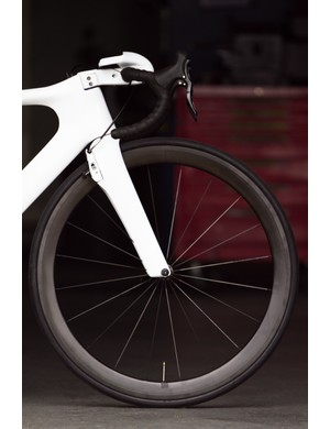 The shifting isn't the only innovative feature of the Toyota Prius Project aero road bike