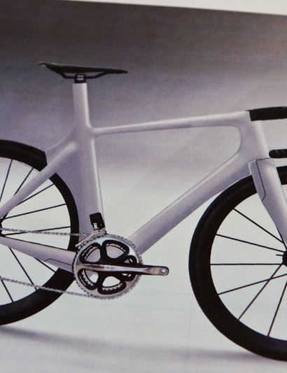 The finished bike looks remarkably similar to this early artist's impression