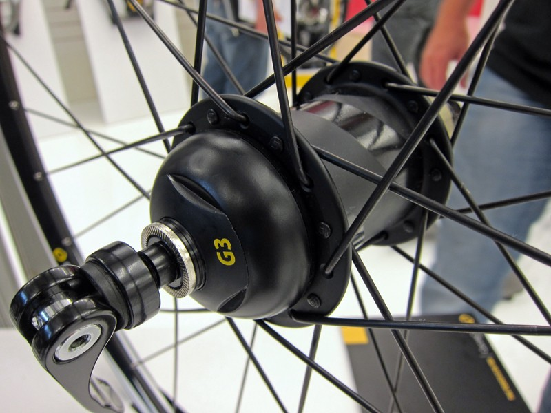 All of the sensitive electronics on the new PowerTap G3 power meter are housed in the end cap, not the hub shell