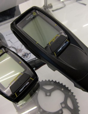 PowerTap also have two new computer heads for 2012, including the Joule GPS - shown here on the right housed inside a special enclosure for use on a specific 3T stem