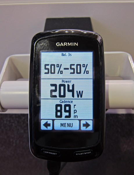 Garmin's Vector power meter will be able to display left vs. right balance in real time on compatible computer heads