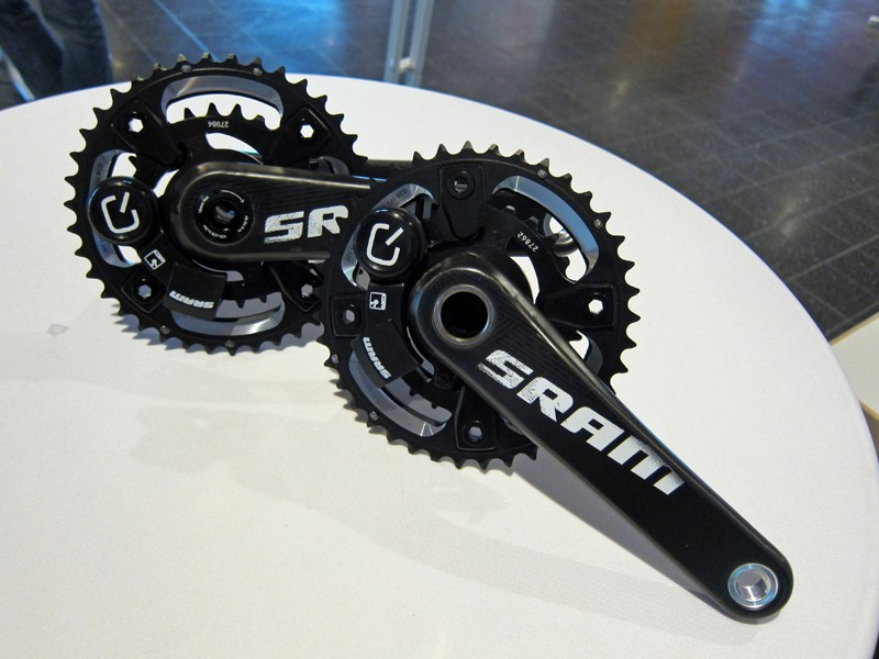 SRAM and Quarq debuted a new Quatro mountain bike power meter at Eurobike