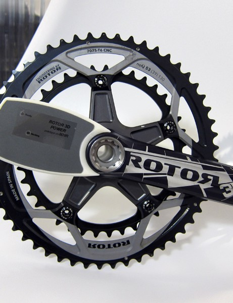 Rotor gave us an exclusive look at their new power meter prototype. Don't be put off by the big plastic electronics box - it'll be much, much smaller by the time it reaches shops late next year