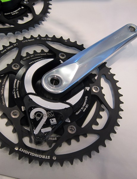 Power2max have several lower-cost power meter options such as this entry-level model built around solid-forged TA crankarms