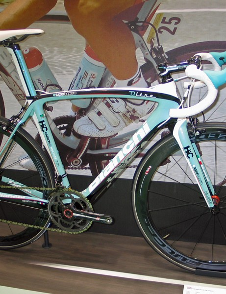 Campagnolo's upcoming electronic groupset will be an option on the Bianchi Oltre