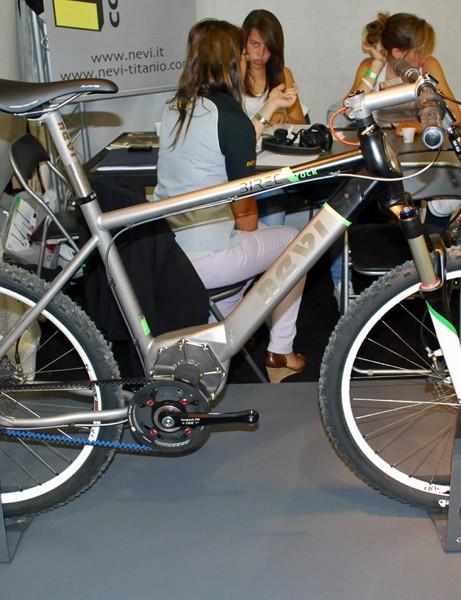 Nevi's titanium framed e-bike prototype