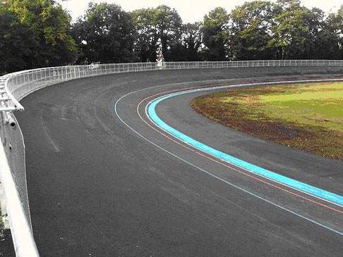 The track was re-surfaced with a special velodrome-specific covering called MasterTrack