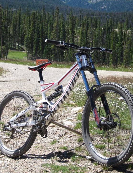 The Status 2 holds its own in the bike park