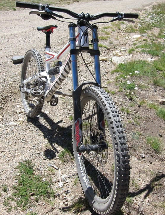 The RockShox Domain fork's performance was an issue for us