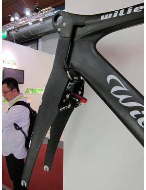 Wilier Triestina have integrated TRP's new time trial brakes into their Twinfoil aero bike