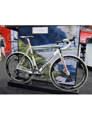 One of the most striking 'cross bikes on display at this year's Eurobike show was this prototype disc-only Stevens