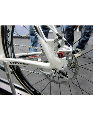 Avid's BB-7 is the best option for mechanical disc brakes for now. We expect a flood of proper hydraulic road options next year though, as well as possibly some lower-weight mechanical options