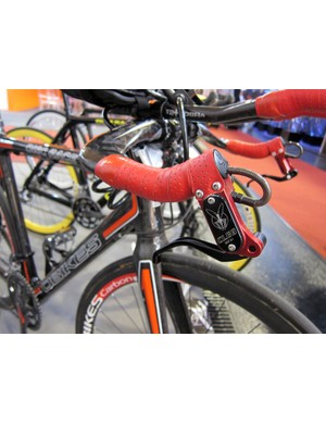 DBikes' time trial bike used mountain bike levers that were repurposed as base bar levers