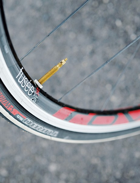 Specialized own brand wheels look good, but they flex an alarming amount when really pushed hard