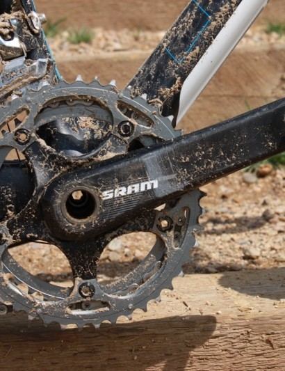 SRAM's S900 crank comes with a 130BCD spider and proper 38/46-tooth cyclo-cross rings
