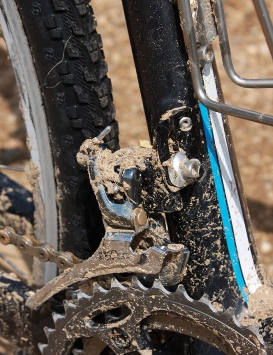 The Force front derailleur is preferred for its steel cage