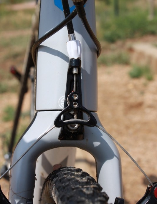 The adjustable fork mounted brake cable hanger was much appreciated