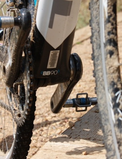 Trek's molded BB90 bottom bracket is made entirely from carbon