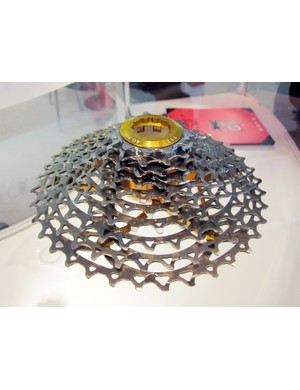 KCNC's new 11-38T cassette is built with titanium cogs riveted on to a minimal machined aluminum spider