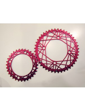KCNC showed off their new Cobweb chainrings at this year's Eurobike show