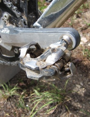 Slaven opts for Shimano's lighter XTR 'Race' pedal