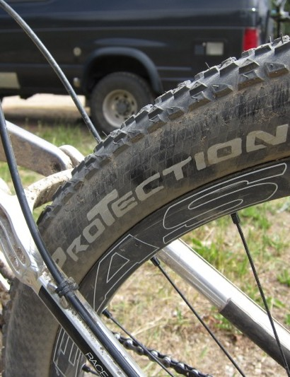 Continental's prototype 2.2in Race King tubeless ready tire