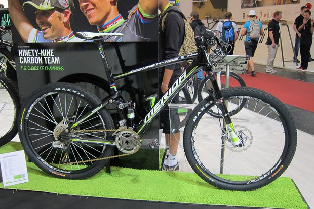 Merida showed off its new Ninety-Nine at this year's Eurobike show, complete with a fantastic 1.85kg claimed frame and shock weight and improved suspension kinematics relative to the outgoing Ninety-Six.