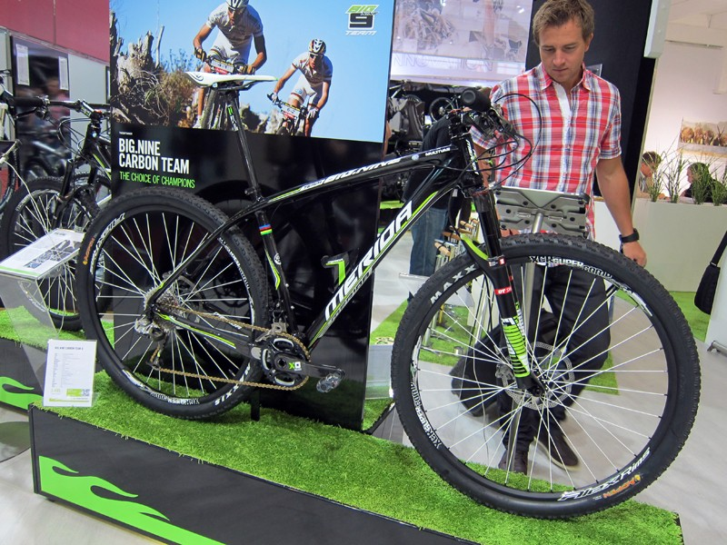 Merida also put its now Big.Nine carbon two-niner on display at this year's Eurobike show.
