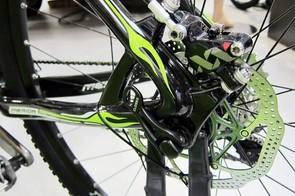 Merida uses post mount rear disc brake caliper tabs on the new Big.Nine.