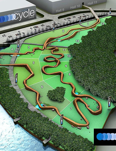 An artists impression of the track