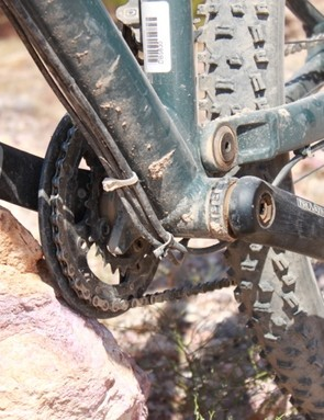 The guide tabs on the 120mm 29er are a fairly contemporary design element