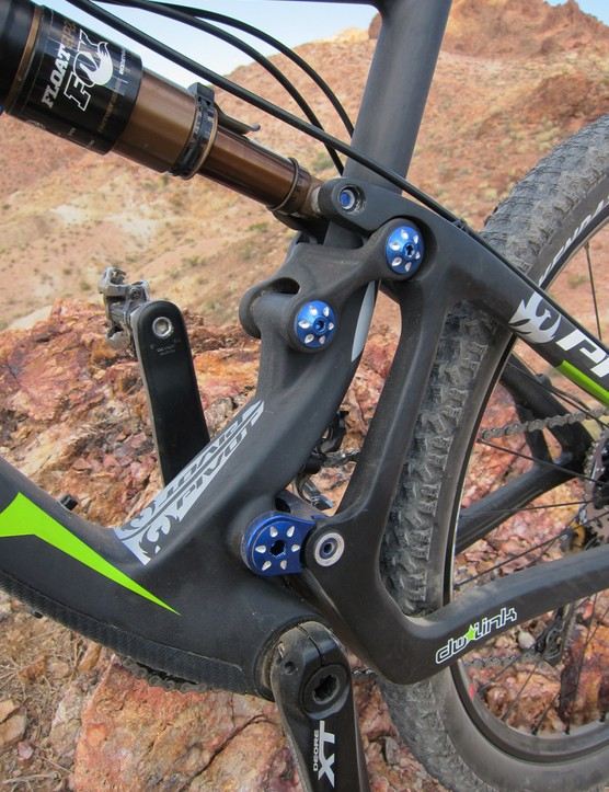 The dw-link suspension design is taut and reactive while pedaling but still ably sucks up bumps without having to rely on heavy compression damping