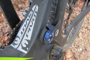 The press-fit bottom bracket allows for wider lower pivot bearing spacing along with a bigger down tube and seat tube